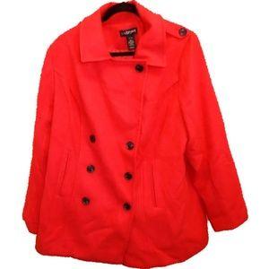 Lane Bryant Red Pea Coat Size 18 /20 NWT Classy